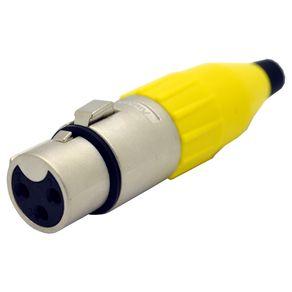Conector-XLR-femea-linha-Amphenol-AC3FYEL-Capa-amarela