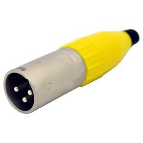Conector-XLR-macho-linha-Amphenol-AC3MMYEL-Capa-amarela