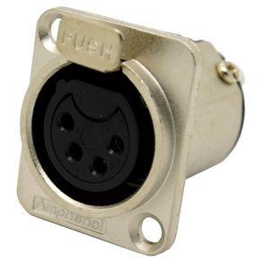 Conector-XLR-femea-painel-Amphenol-AC4FDZ