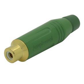 Conector-RCA-femea-cabo-Amphenol-ACJRGRN-Verde