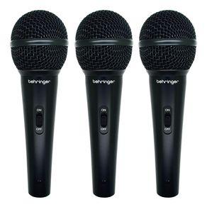 Kit-3-Microfones-dinamicos-Behringer-XM1800S